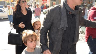 Double trouble: Brad Pitt and Angelina Jolie's family fun with with twins Vivienne and Knox
