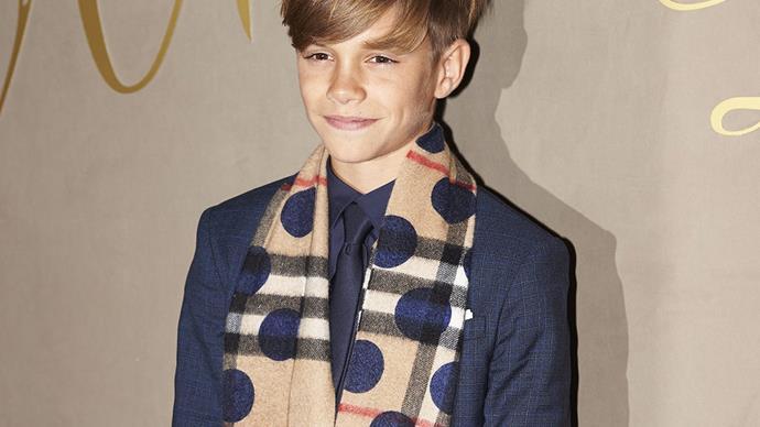 Romeo Beckham for Burberry