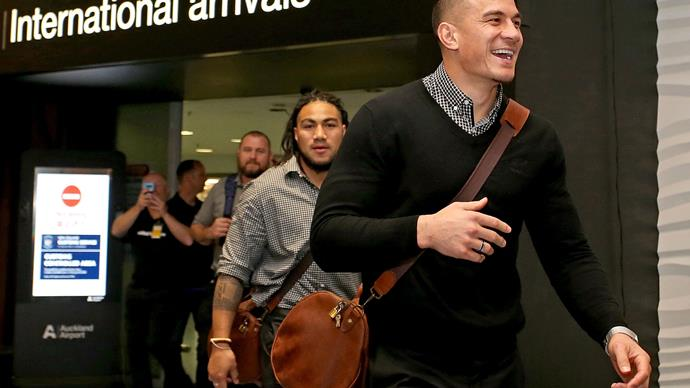 All Blacks at Auckland Airport