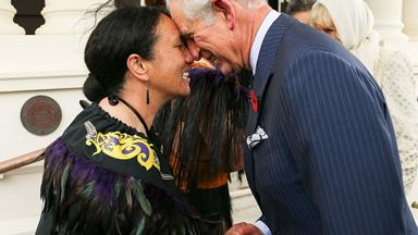 Prince Charles and Camilla touch down in Wellington