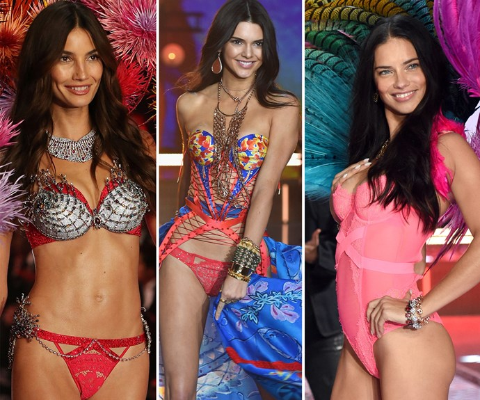 The 2015 Victoria's Secret Fashion Show, Lily Aldridge, Kendall Jenner, Adriana Lima