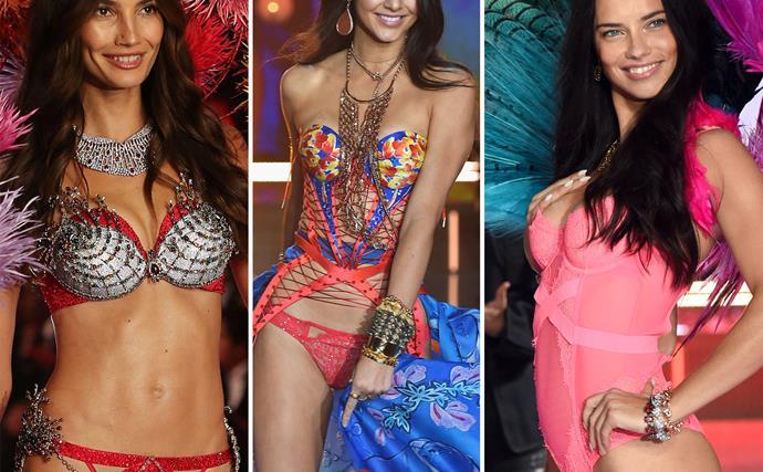 The 2015 Victoria's Secret Fashion Show, Lily Aldridge, Kendall Jenner, Adriana Lima