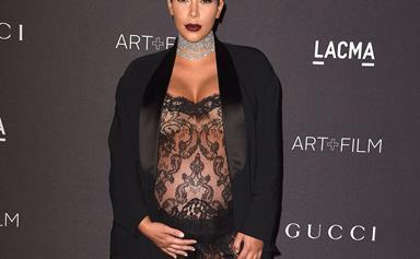Kim Kardashian's maternity style
