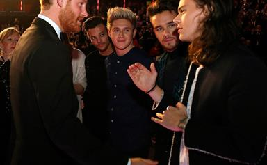 Prince Harry quizzes pop prince Harry Styles