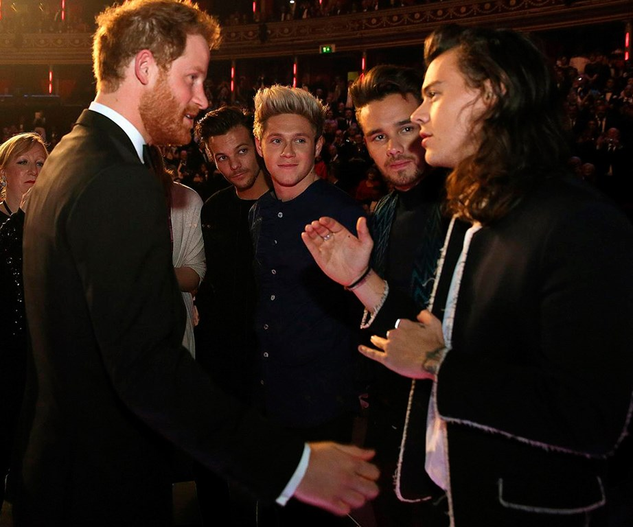 Prince Harry met One Direction and asked the other Harry (Harry Styles), when the last time he had a haircut was. Cheeky!