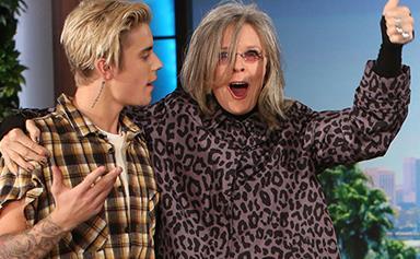 Diane Keaton fangirls over Justin Bieber