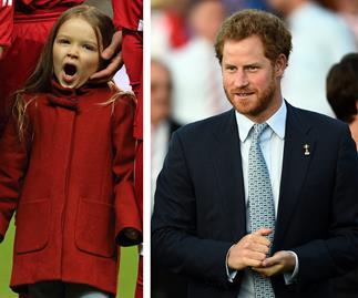 Harper Beckham and Prince Harry