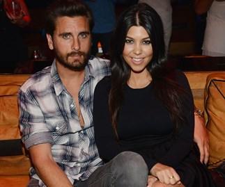 Scott Disick and Kourtney Kardashian when they were a couple.