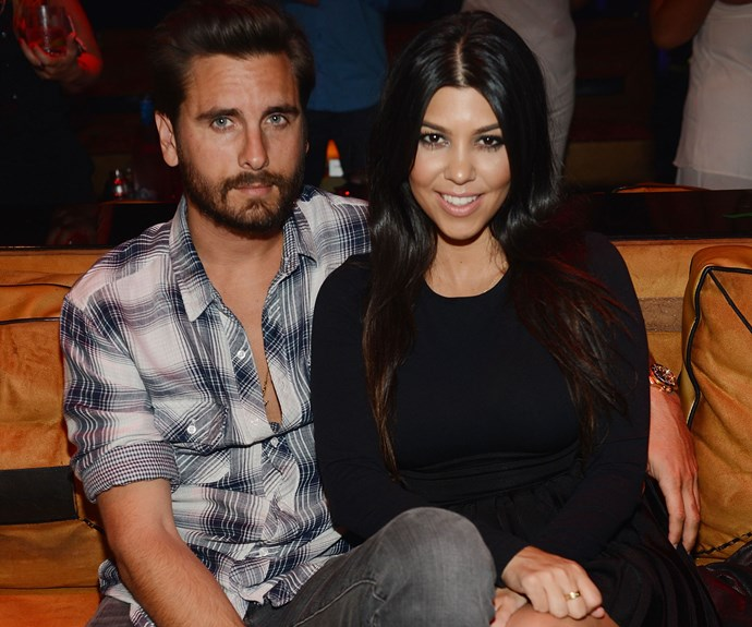 Scott Disick and Kourtney Kardashian when they were a couple.
