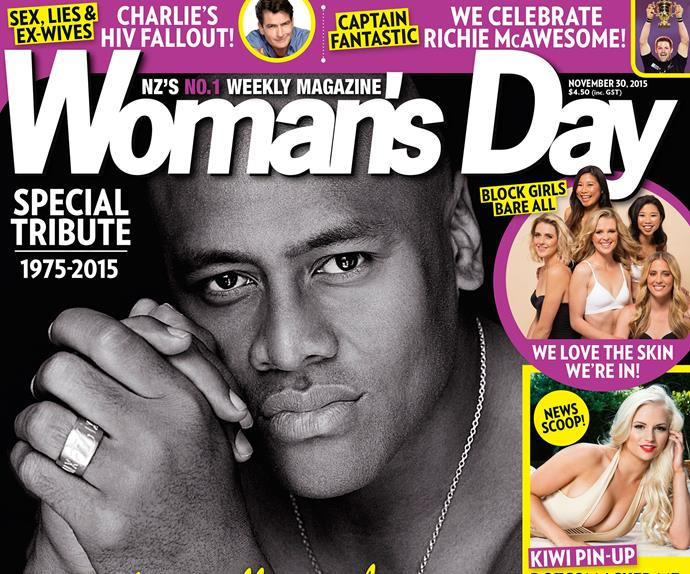 Woman's Day Jonah Lomu cover