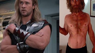 BE-THOR AND AFTER: Chris Hemsworth's dramatic weight loss