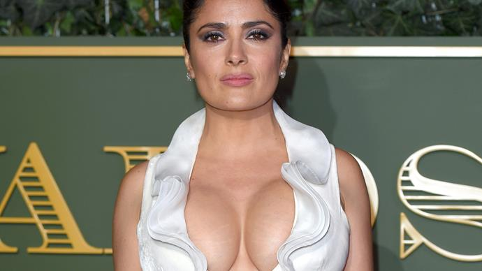 Salma Hayek in cleavage-baring dress