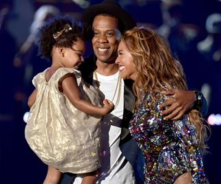 Beyonce and Blue and Jay Z