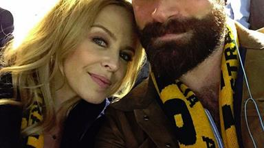 "Kylie Minogue goes ""all gooey"" over new beau Joshua Sasse"
