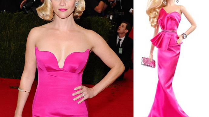 Reese Witherspoon and Barbie