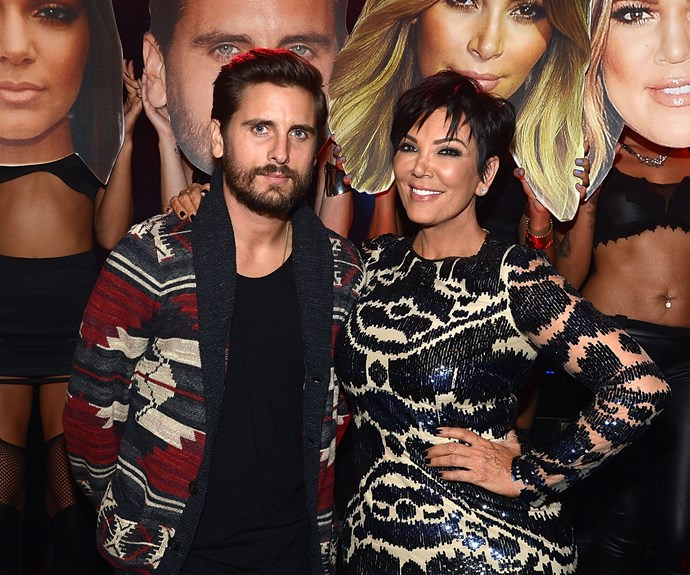 Scott Disick with Kris Jenner