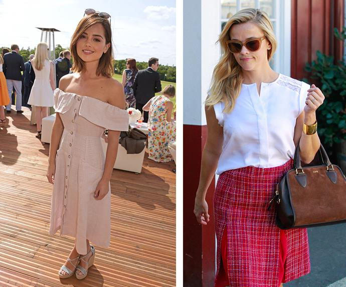 Jenna Coleman and Reese Witherspoon