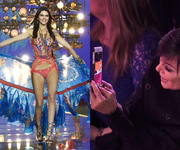Kendall Jenner and Kris Jenner at the VS Show