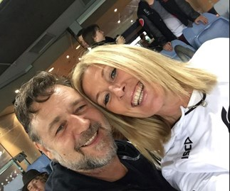 Russell Crowe and Julie Burgess