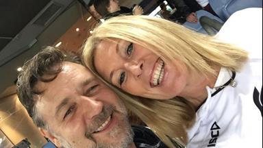 Is Russell Crowe dating Julie Burgess?