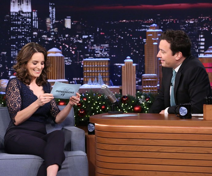 Tina Fey hilariously impersonates Sofia Vergara with Jimmy Fallon