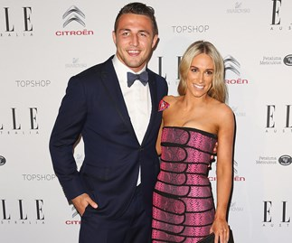 Sam Burgess and Phoebe Hooke