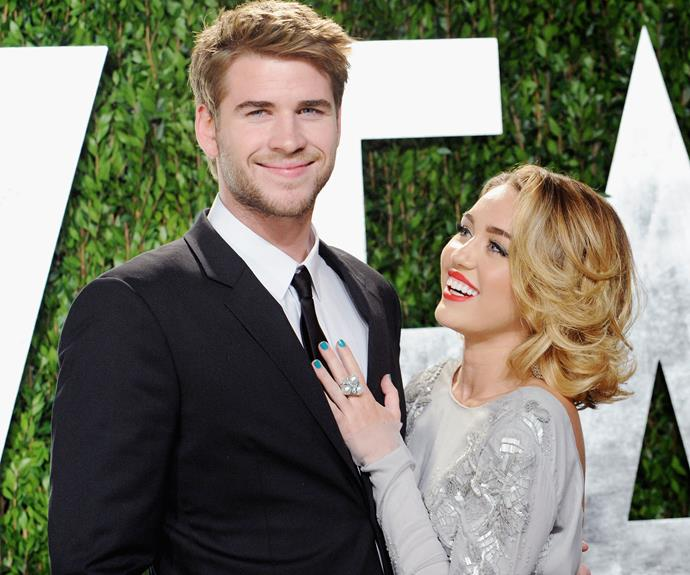 Miley and Liam fell in love after meeting on the set of *The Last Song*. Photo: Getty