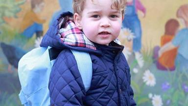 New pics! The future king of England has started nursery school
