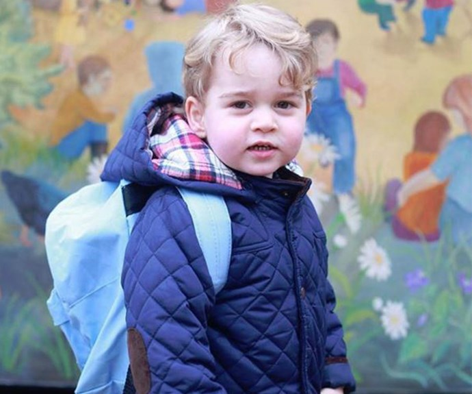 "He's a big boy now! Earlier this year, Prince George started nursery school at the [Westacre Montessori School.](http://www.womansday.com.au/royals/british-royal-family/prince-george-first-day-at-school-14411|target=""_blank"")"