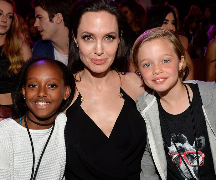 Zahara, Angelina and Shiloh Jolie-Pitt