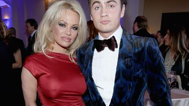 All grown up! Pamela Anderson's son Brandon Lee joins her at charity event