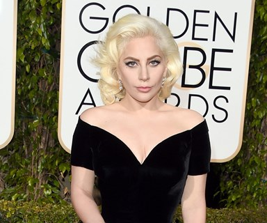 Lady Gaga tears up while accepting her Golden Globe award