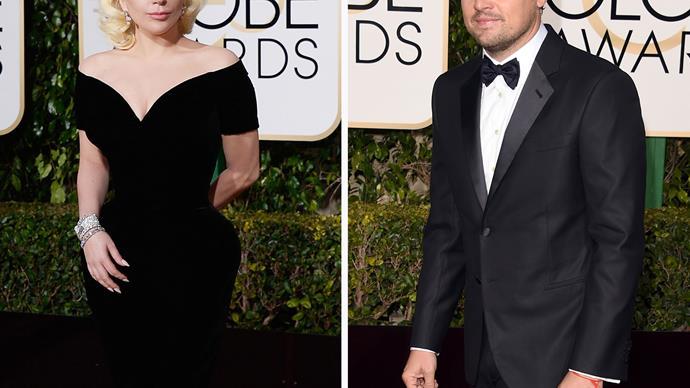 Leonardo DiCaprio and Lady Gaga