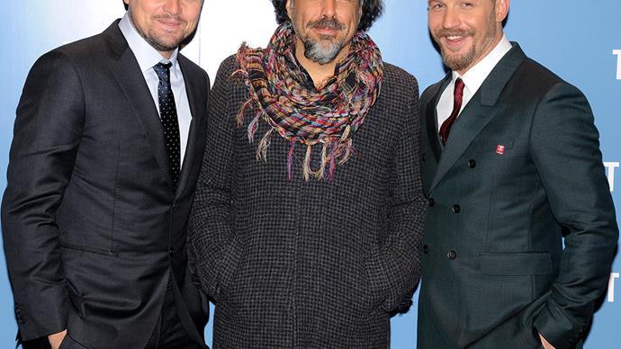 Leonardo DiCaprio, Alejandro Iñárritu and Tom Hardy