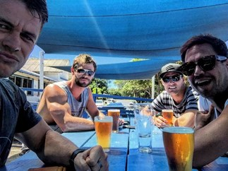Chris Hemsworth flashes serious muscles in Instagram snap
