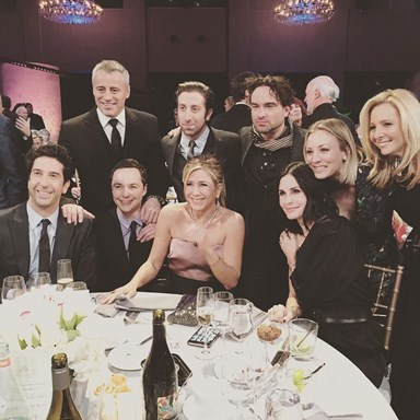 'Friends' stars reunite in new photo with 'Big Bang Theory' cast