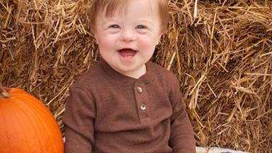Beautiful two-year-old with Down syndrome passionately recites the alphabet