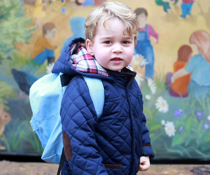 The curly-haired youngster is attended Westacre Montessori School near the Cambridge's Anmer Hall home in Sandringham.