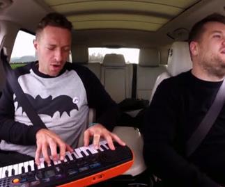 Chris Martin pays tribute to David Bowie on Carpool Karaoke