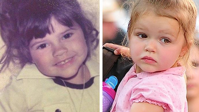 Victoria and Harper Beckham
