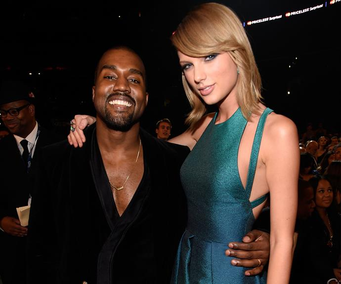 Taylor has had a long-running feud with Kanye, dating back to when he interrupted her acceptance speech at the MTV VMAs in 2009. Photo: Getty