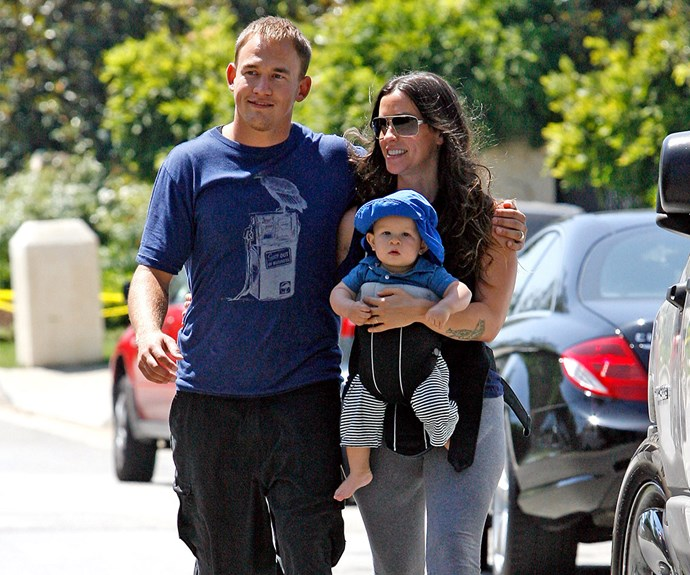 Alanis Morisette with Mario 'Souleye' Treadway and baby Ever.