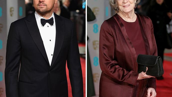 Leonardo Dicaprio and Maggie Smith