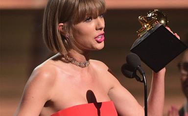 Taylor Swift hits back at Kanye West in her Grammys acceptance speech