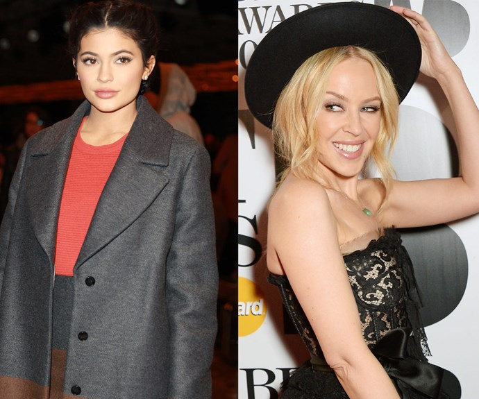 Kylie Minogue and Kylie Jenner