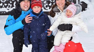 Snow babies! Royals share pics of Prince George and Princess Charlotte's first snow trip