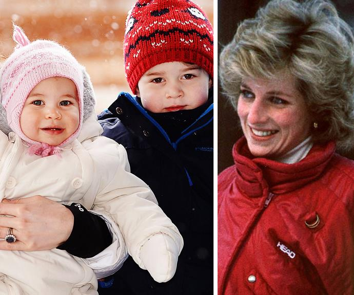 Princess Charlotte, Prince George and Princess Diana
