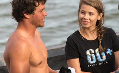 Bindi Irwin and Chandler Powell go wakeboarding