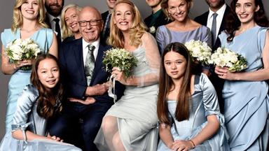 "Jerry Hall shares new wedding portrait: ""My beautiful family!"""