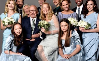 "Jerry Hall shares new wedding portrait: ""My beautiful family!"""
